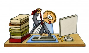 Cartoon of a frustrated office worker Photo Credits http://www.dreamstime.com/