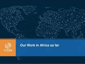 ICANN work in Africa